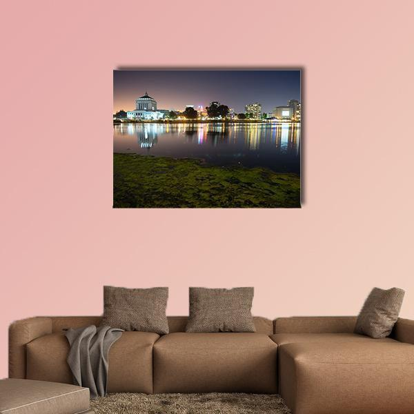 Smooth Water Of Lake Merritt In Oakland Multi Panel Canvas Wall Art 5 Pieces(B) / Medium / Canvas Tiaracle
