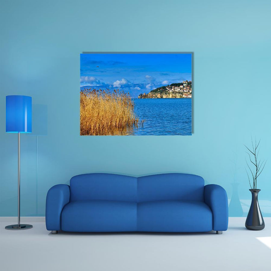 Lake Ohrid In Macedonia Multi Panel Canvas Wall Art 5 Pieces(A) / Medium / Canvas Tiaracle