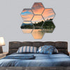 Lake Tahoe After Sunset Hexagonal Canvas Wall Art 7 Hexa / Small / Gallery Wrap Tiaracle