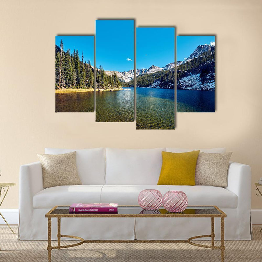 Lake Verna With Mountains Multi Panel Canvas Wall Art 3 Pieces / Medium / Canvas Tiaracle