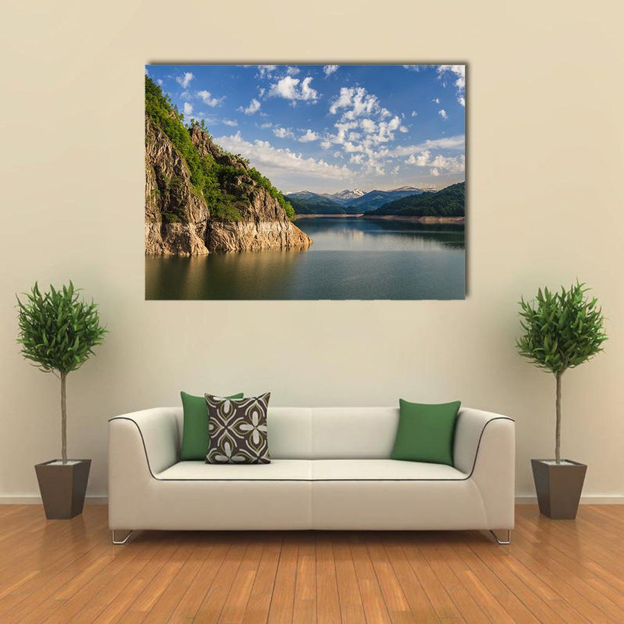 Dam Vidraru Lake In Fagaras Mountains Multi Panel Canvas Wall Art 5 Pieces(A) / Medium / Canvas Tiaracle