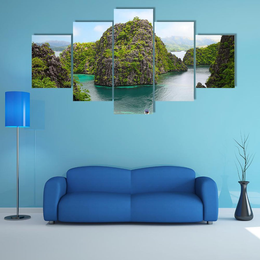 Landscape Of Coron In Philippines Multi Panel Canvas Wall Art 3 Pieces / Medium / Canvas Tiaracle