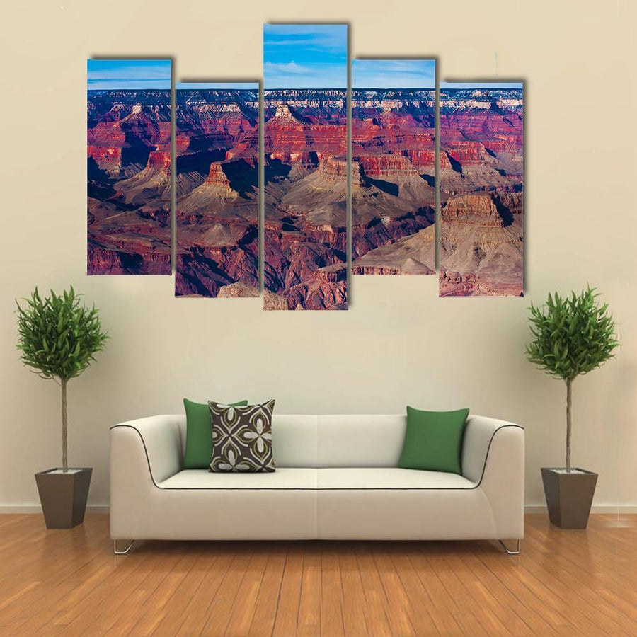Beautiful Landscape Of Grand Canyon National Park, Arizona Multi Panel Canvas Wall Art 1 Piece / Medium / Gallery Wrap Tiaracle