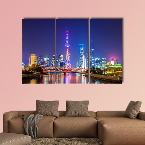Landscape Of Lujiazui In Shanghai Multi Panel Canvas Wall Art 5 Pieces(A) / Medium / Canvas Tiaracle