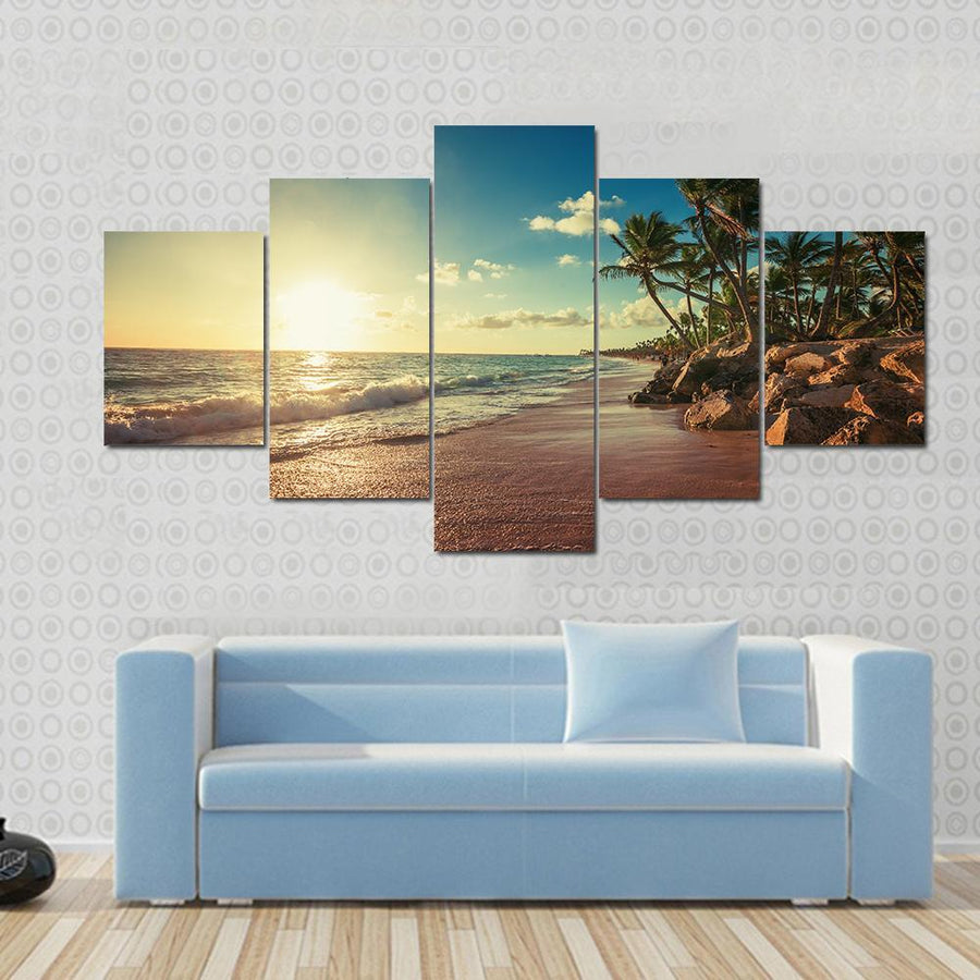 Landscape Of Paradise Tropical Island Beach Canvas Panel Painting Tiaracle
