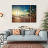 Landscape Of Paradise Tropical Island Beach Multi Panel Canvas Wall Art 4 Horizontal / Small / Gallery Wrap Tiaracle