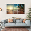 Landscape Of Paradise Tropical Island Beach Multi Panel Canvas Wall Art 5 Horizontal / Small / Gallery Wrap Tiaracle