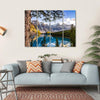 Landscape View Of Moraine Lake Multi Panel Canvas Wall Art-4 Horizontal-Small-Gallery Wrap-Tiaracle