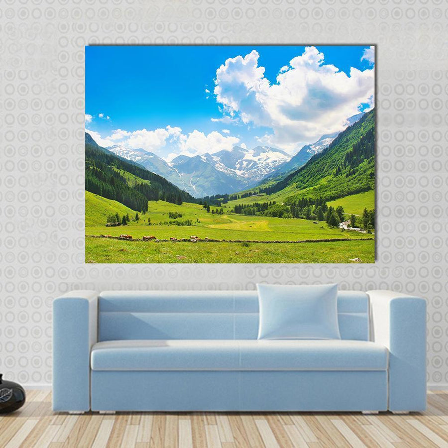 Beautiful Landscape With The Alps In National Park Austria Canvas Panel Painting Tiaracle