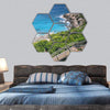 Langkawi Coast Line Hexagonal Canvas Wall Art 7 Hexa / Small / Gallery Wrap Tiaracle