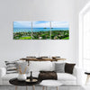 Lanikai Beach With City In Hawaii Panoramic Canvas Wall Art 3 Piece / Small Tiaracle
