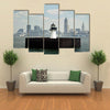Downtown Of Cleveland Ohio Multi Panel Canvas Wall Art 5 Pieces(A) / Medium / Canvas Tiaracle