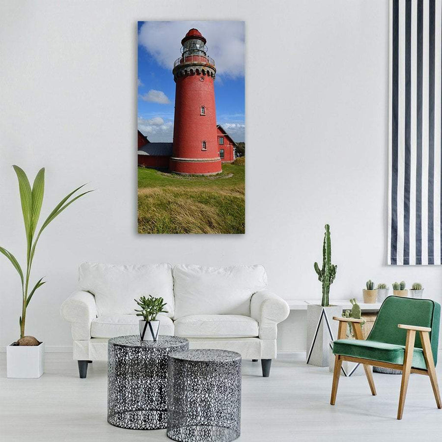 Lighthouse On Denmark Coast Vertical Canvas Wall Art 3 Vertical / Small / Gallery Wrap Tiaracle