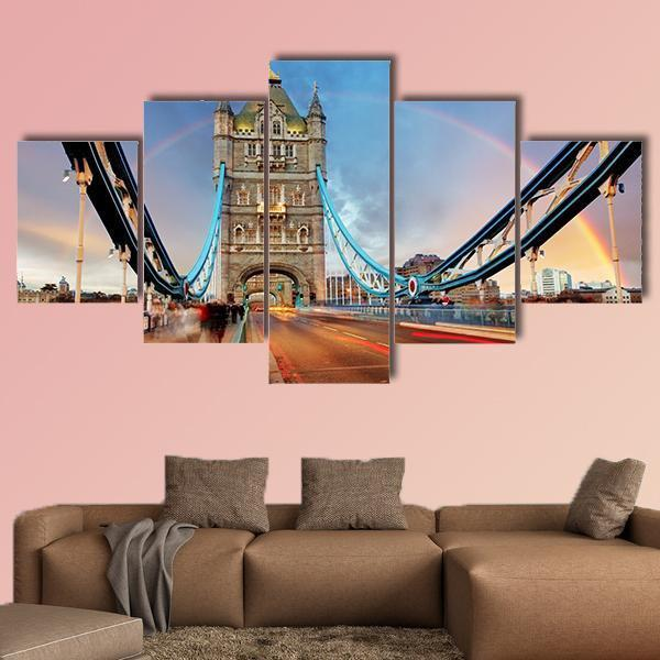 London Tower Bridge Multi Panel Canvas Wall Art 3 Pieces / Medium / Canvas Tiaracle100587571_xl