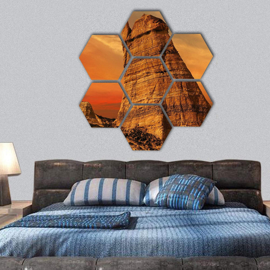 Love Valley Near Goreme Hexagonal Canvas Wall Art 1 Hexa / Small / Gallery Wrap Tiaracle