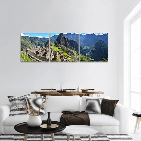 Machu Picchu In Peru Panoramic Canvas Wall Art 1 Piece / Small Tiaracle