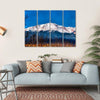 Majestic View Of Pikes Peak In Colorado Multi Panel Canvas Wall Art 4 Horizontal / Small / Gallery Wrap Tiaracle