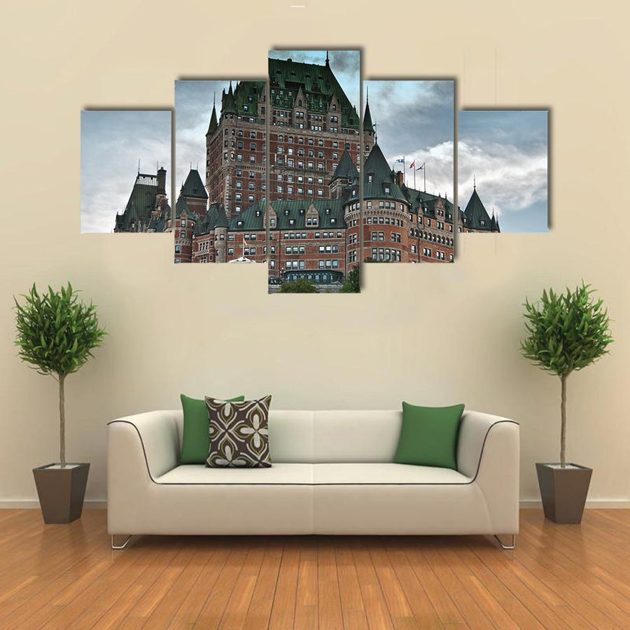 Majesty Of Chateau De Frontenac Multi Panel Canvas Wall Art 3 Pieces / Medium / Canvas Tiaracle