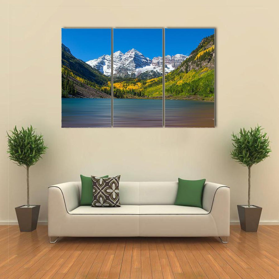 Autumn At Maroon Bells Canvas Panel Painting Tiaracle