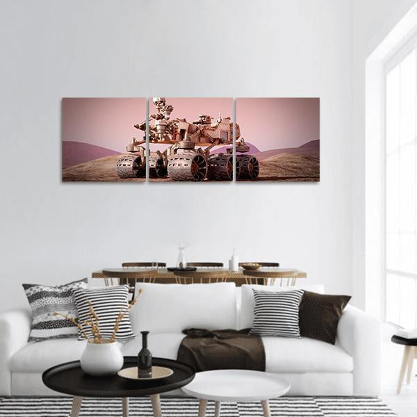 Mars Rover Panoramic Canvas Wall Art 1 Piece / Small Tiaracle
