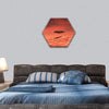 Mars Spaceship Landing On Mars Hexagonal Canvas Wall Art 1 Hexa / Small / Gallery Wrap Tiaracle