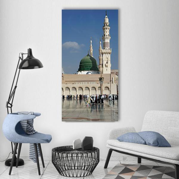 Masjid Nabawi Vertical Canvas Wall Art 3 Vertical / Small / Gallery Wrap Tiaracle