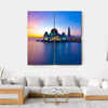Masjid Selat Melaka Multi Panel Canvas Wall Art 4 Square / Small / Gallery Wrap Tiaracle