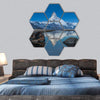 Matterhorn With Reflection In Stelli Lake Hexagonal Canvas Wall Art 7 Hexa / Small / Gallery Wrap Tiaracle
