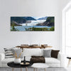 Mendenhall Glacier And Lake In Juneau Panoramic Canvas Wall Art 1 Piece / Small Tiaracle