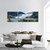 Mendenhall Glacier And Lake In Juneau Panoramic Canvas Wall Art 3 Piece / Small Tiaracle