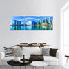 Merlion Park In Singapore Panoramic Canvas Wall Art Tiaracle