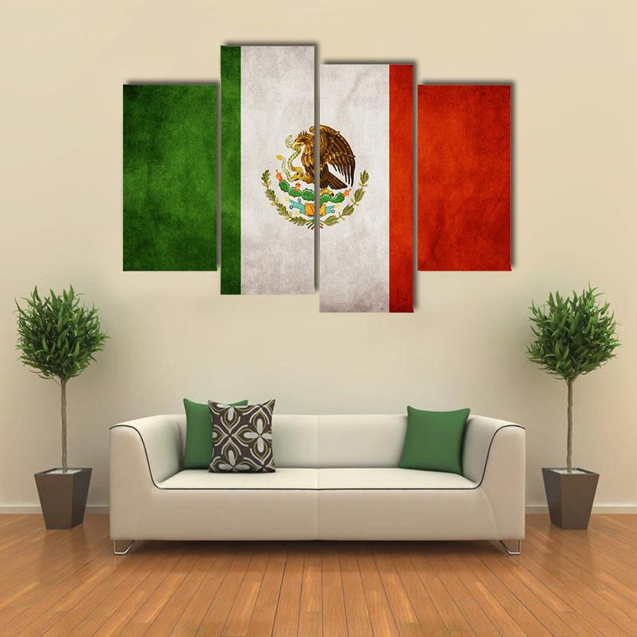 Mexican Flag Multi Panel Canvas Wall Art 3 Pieces / Medium / Canvas Tiaracle