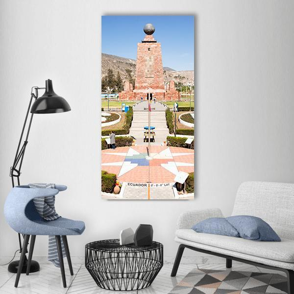 Middle Of The World City Memorial Vertical Canvas Wall Art 3 Vertical / Small / Gallery Wrap Tiaracle