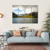 Mighty Fjords With Mountains Covered By Snow Multi Panel Canvas Wall Art-4 Horizontal-Small-Gallery Wrap-Tiaracle