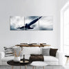Military Airplane On Speed Panoramic Canvas Wall Art 3 Piece / Small Tiaracle
