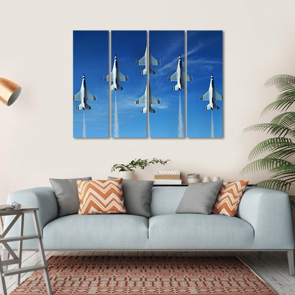 Military Fighter Jet Multi Panel Canvas Wall Art 1 Piece / Small / Gallery Wrap Tiaracle