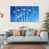 Military Fighter Jet Under Blue Sky Multi Panel Canvas Wall Art 5 Horizontal / Small / Gallery Wrap Tiaracle