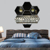 Mixing Desk With Speakers Hexagonal Canvas Wall Art-7 Hexa-Small-Gallery Wrap-Tiaracle