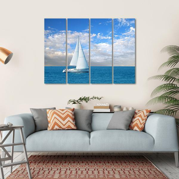 Modern Sail Boat Multi Panel Canvas Wall Art 1 Piece / Small / Gallery Wrap Tiaracle