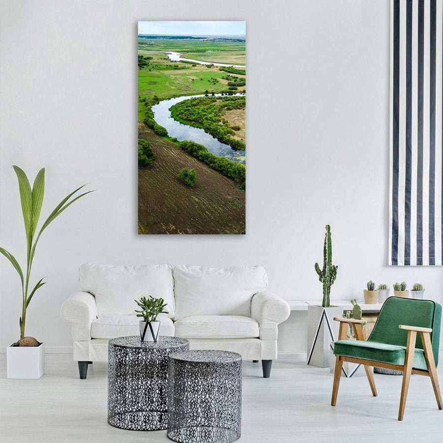 Mongolian Tribes Wetlands Vertical Canvas Wall Art 3 Vertical / Small / Gallery Wrap Tiaracle