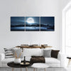 Moon Rising Over The Forest Panoramic Canvas Wall Art 3 Piece / Small Tiaracle