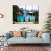 Moraine Lake In Canada Multi Panel Canvas Wall Art 4 Horizontal / Small / Gallery Wrap Tiaracle