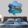 Moraine Lake In The Canadian Rockies Hexagonal Canvas Wall Art-7 Hexa-Small-Gallery Wrap-Tiaracle