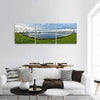 Morning Mist Over Lake In Mongolia Panoramic Canvas Wall Art 3 Piece / Small Tiaracle