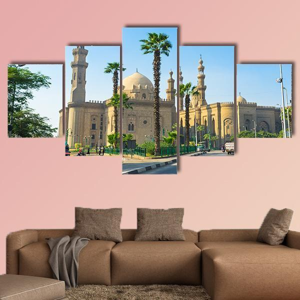 Mosque Of Sultan Hassan In Cairo Egypt Multi Panel Canvas Wall Art 4 Pieces / Medium / Canvas Tiaracle