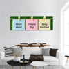 Motivational Quote Panoramic Canvas Wall Art 1 Piece / Small Tiaracle