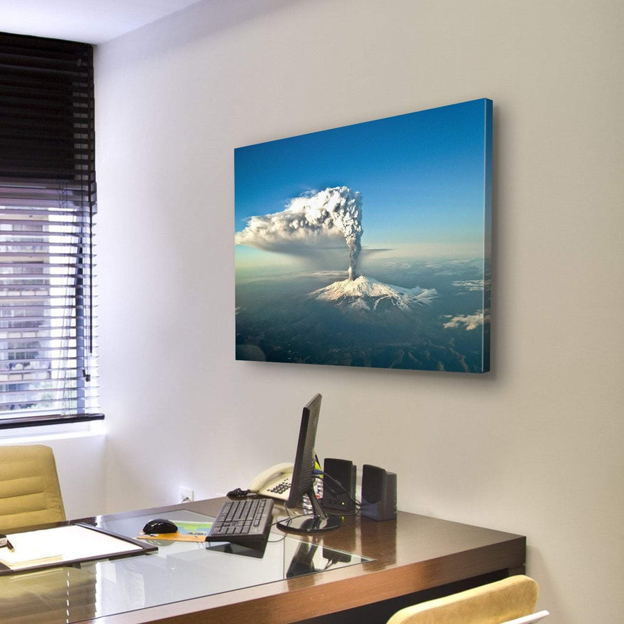 Etna Eruption View Canvas Panel Painting Tiaracle