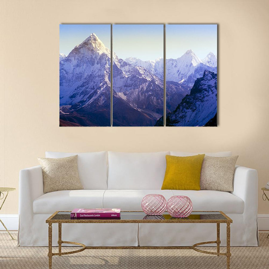 Mount Everest Base Camp Trek Through The Himalaya, Nepal Canvas Panel Painting Tiaracle