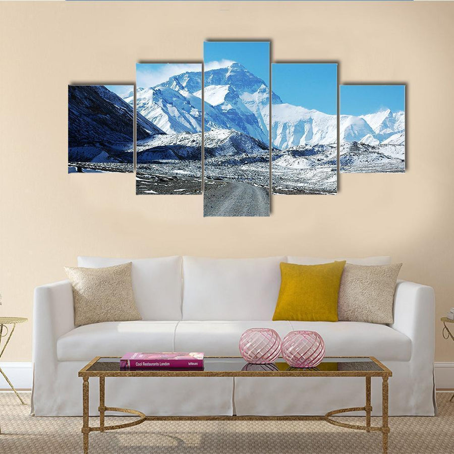 Scenery Of Mount Everest In Tibet China Canvas Panel Painting Tiaracle