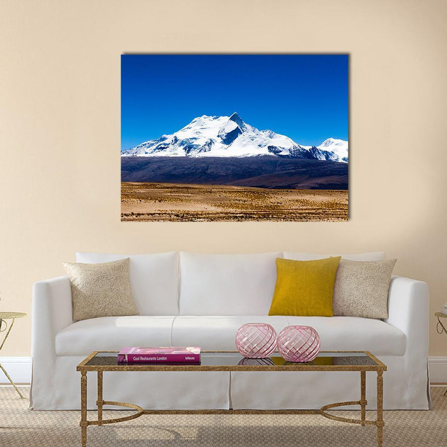 Mount Shishapangma In Tibet China Multi Panel Canvas Wall Art 5 Pop / Small / Gallery Wrap Tiaracle